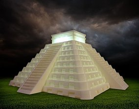 3D printable model Temple of Kukulkan at Chichen Itza