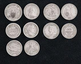 Coin Dollar 3D print model