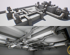 3D model ultimate air ducts modular system 60 elements