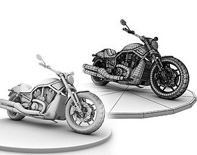 Harley Davison Night Rod 3D model
