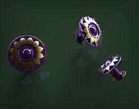 3D print model lotus earring