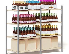 Market Shelf 3D Model - Wines