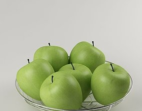 3D model Apples in the basket 06