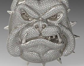 Iced out Cartoon Angry Bulldog 3D printable model