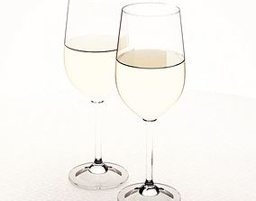 Glass Wine Drinking Glasses 3D
