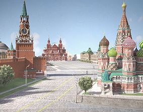3D Moscow Red Square Russia