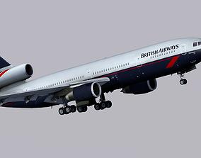 McDonnell Douglas DC-10 British Airways 3D model