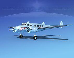 Lockheed L10 Electra Qantas 3D model