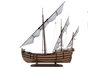 Wooden Ship 3D