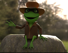 TOAD DETECTIVE Character Animated 3D model