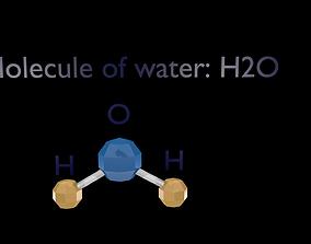 Molecule of water circuit 3D asset