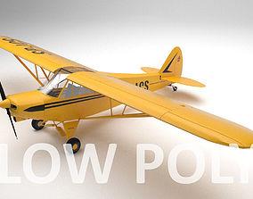 Piper PA-18 Supercub Low Poly 3D model