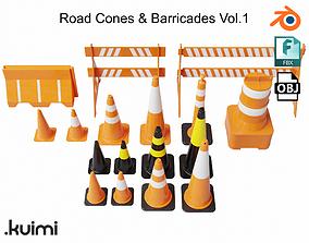 Road Cones and Barricades Vol 1 3D