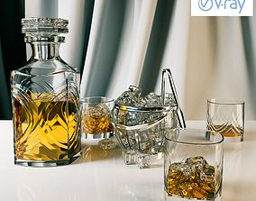 3D Whiskey set with bucket for ice