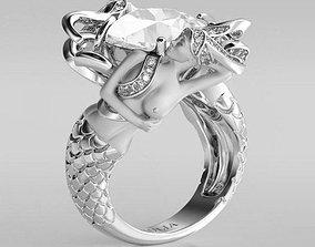 3D print model mermaid-ring