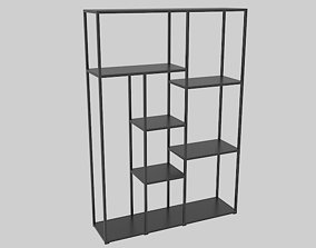 3D asset Office Bookcase 1400