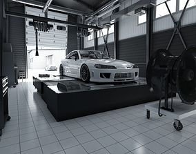 Tuning Car Service 3D model