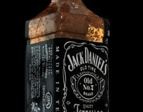 Jack Daniels Bottle 3D