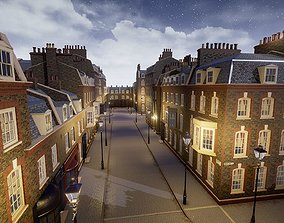 London Street Environment Unreal Engine 4 3D asset