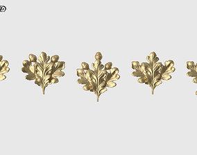 Oak Leaves Set 3D printable model renaissance