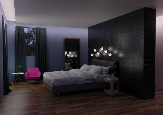 Bedroom at night