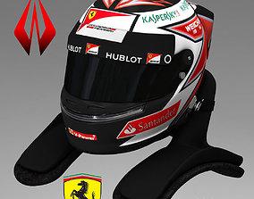 Kimi Raikkonen Helmet 2015 3D asset