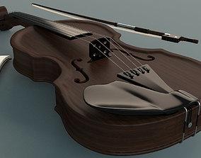 Violin 3D model violin instrument