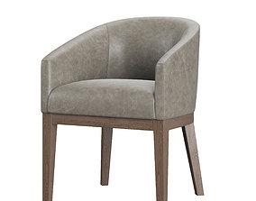 3D asset RH Morgan Barrelback Slope Leather Chair
