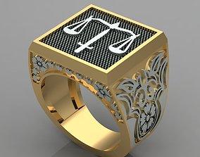 Justice - Ring 3D print model