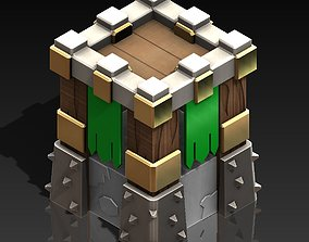 CLASH OF CLANS ARCHER TOWER Lv10 3D printable model 3