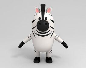 Zebra Character 3D model