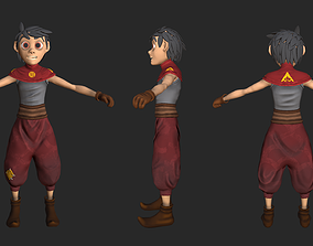 Nomad boy game character 3D model