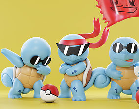 3D printable model Squirtle Squad - Pokemon toys - Fan Art