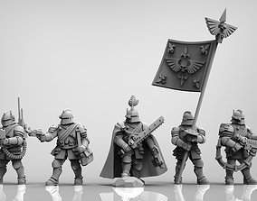3D print model Feudal Guard Command Squad
