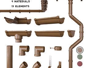 3D model Gutter system