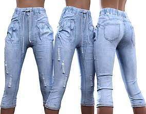 3D Baggy Jeans Trousers