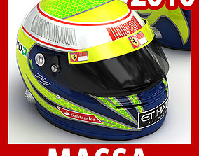 3D Helmet F1 2010 Felipe Massa
