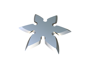 projectile 3D print model Shuriken