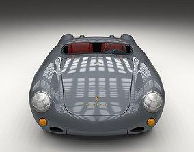 3D Porsche 550 Spyder gray