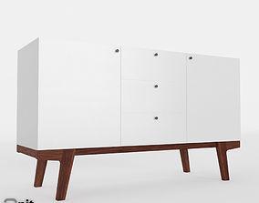3D Modern Buffet by West Elm