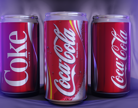 3D soda Coke Can