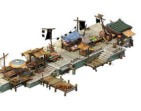 Game Model - City Food Market flower