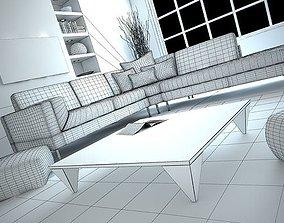3D model Modern Living Room Scene