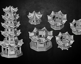 3D print model Heresylab - Fantasy Tower Oriental
