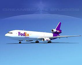 Douglas DC-10 FeDex 3D