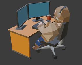 3D model animated Harry