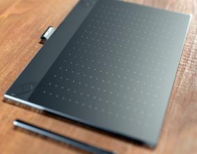 Wacom tablet and pen 3D model