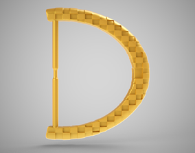 Chequered Buckle 3D printable model