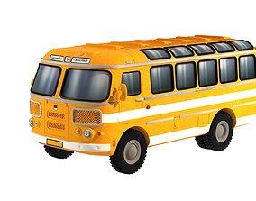 PAZ-672 Soviet bus 3D printable model