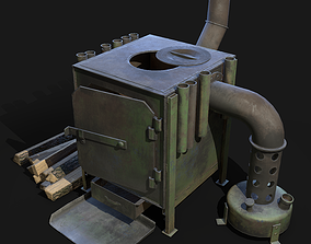 stove 3D model game-ready